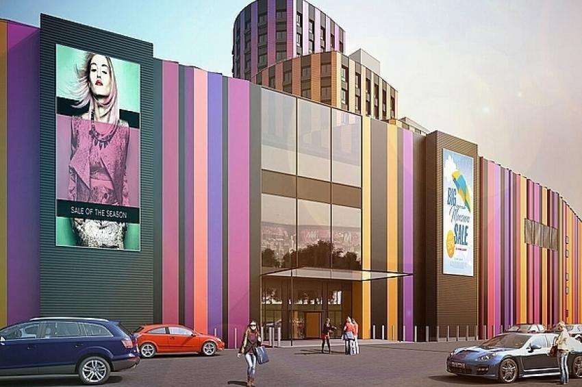 В ТРЦ «Галерея 9-18» в Видном приступили к возведению фасада здания